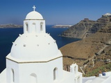 Dome of the Orthodox Church  Thira  Santorini  Cyclades  Greece