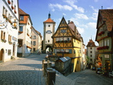 Rothenburg Ob Der Tauber  the Romantic Road  Bavaria  Germany  Europe