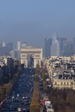 Elevated View of Champs Elysees  Arc De Triomphe and La Defense  Paris  France  Europe