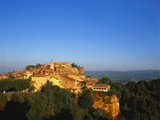 Roussillon Village on a Cliff-Top  Languedoc-Roussillon  France