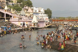 Temple at Har-Ki-Pairi  on Bank of River Ganges  Haridwar  Uttarakhand  India  Asia