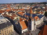 View of Munich's Roofs  Germany  Europe