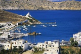 Aerial View of Yialos  Ios  Cyclades  Greece
