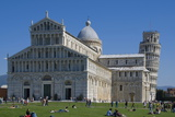 Duomo and Leaning Tower  UNESCO World Heritage Site  Pisa  Tuscany  Italy  Europe