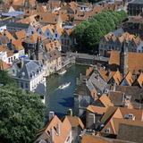 Aerial View over Rozenhoedkaai and Roof-Tops from the Belfry