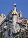 Detail of Gaudi's Casa Batllo  Barcelona  Spain