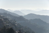 View South from Mussoorie over Morning Mist on Foothills of Garwhal Himalaya