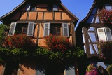 Exterior of Houses in Niedermorschwihr  Upper Alsace  Alsace  France