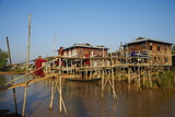 Wooden Bridge  Ywama Village  Inle Lake  Shan State  Myanmar (Burma)  Asia