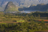 Vinales Valley  UNESCO World Heritage Site  Bathed in Early Morning Sunlight