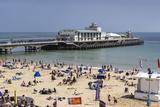 West Beach and Pier with Calm Sea  Bournemouth  Dorset  England  United Kingdom  Europe