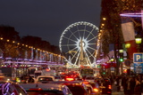 Roue De Paris and Champs Elysees at Dusk  Paris  France  Europe
