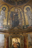 Mosaic of Mary and Jesus  Santa Francesca Romana Church  Rome  Lazio  Italy  Europe