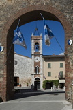 Arched Entrance to Piazza with Church of San Francesca