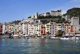 Brightly Painted Houses and Medieval Town Walls by the Marina at Porto Venere