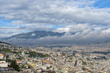 Panorama over Quito  Pichincha Province  Ecuador  South America