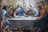 Last Supper Painting in Our Lady of Bonfim Church  Salvador  Bahia  Brazil  South America