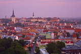 Elevated View over Old Town at Dawn  Tallinn  Estonia  Europe