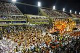 Samba Parade at the Carnival in Rio De Janeiro  Brazil  South America