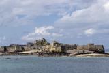 Elizabeth Castle at High Tide  Jersey  Channel Islands  United Kingdom  Europe