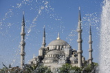 Fountain in Front of the Blue Mosque  Istanbul  Turkey  Western Asia