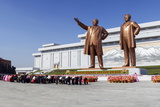 Statues of Former Presidents Kim Il-Sung and Kim Jong Il