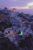 Village of Oia  Santorini  Cyclades  Greece