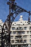 A Wrought Iron Lamp Frames La Pedrera (Casa Mila)