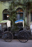 Rickshaw on the Street  Kolkata (Calcutta)  West Bengal  India  Asia