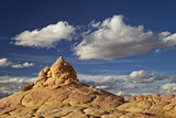 Sandstone Formation under Clouds