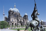 Altes Museum with Berlin Cathedral  Berlin  Germany