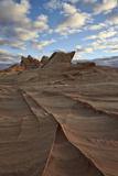Ridges in Sandstone under Clouds