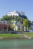 River Salzach with Hohensalzburg Castle and the Old Town