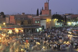 Elevated View over Djemaa El-Fna in the Evening When the Square Is Filled with Food Stalls