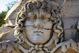 Head of Medusa  Temple of Apollo  Didyma  Anatolia  Turkey  Asia Minor  Eurasia