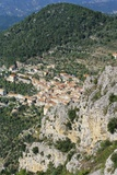 Aerial View of Peille  Provence  France