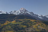 Mount Sneffels at First Light with a Dusting of Snow in the Fall