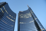 Modern Building  Gae Aulenti Square  Milan  Lombardy  Italy  Europe