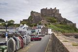 Gorey Castle (Mont Orgueil Castle) and Harbour  Jersey  Channel Islands  United Kingdom  Europe