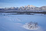 The Tetons at Dawn after a Fresh Snow