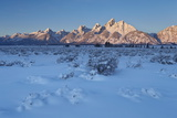 The Teton Range at First Light after a Fresh Snow