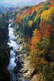 Ottauquechee River  Quechee Gorge  Quechee National Park  Vermont Usa