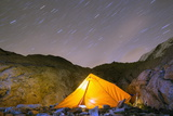 Camping on Monte Rosa Moraine  Zermatt  Valais  Swiss Alps  Switzerland  Europe