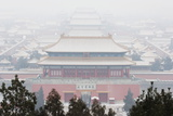 Snow Covered Forbidden City Palace Museum UNESCO World Heritage Site Beijing China