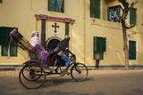 Rickshaw in Front of St Joseph's Convent