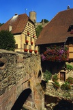 Stone Bridge in Kaysersberg  Alsace  France