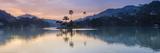 Kandy Lake and the Island at Sunrise  Kandy  Central Province  Sri Lanka  Asia