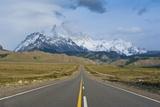 Road Leading to Mount Fitzroy Near El Chalten