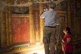 Archeologists and Restorers Studing the Frescos at Poppea Villa (Villa Poppaea)