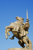 Statue of Svatopluk  Ruler of Moravia 869  Bratislava Castle  Bratislava  Slovakia  Europe